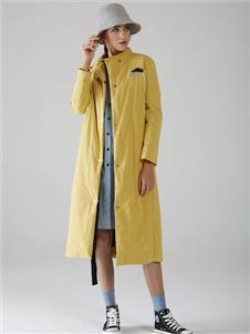 墨曲新款黄色外套