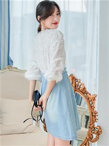 樣YANG新款藍色半身裙