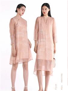 迪凯粉色连衣裙
