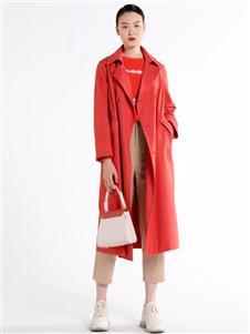 迪凯红色风衣