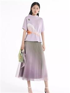 迪凯紫色短袖