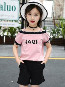 賓果童話新款粉色T恤