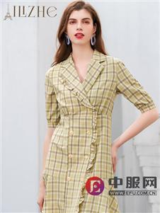 艾丽哲新款时尚知性连衣裙
