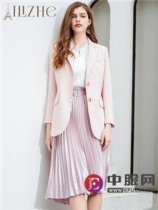 艾丽哲粉色知性时尚外套