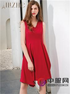 艾丽哲无袖时尚气质连衣裙