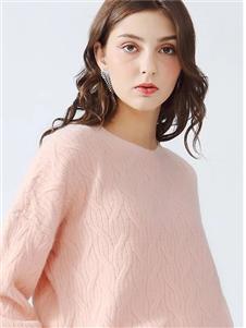 丹比奴女装丹比奴粉色针织衫