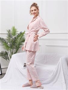 珍妮芬新款粉色家居服