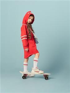 水孩儿女童新款红色卫衣