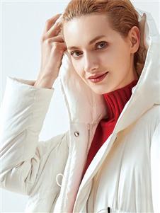 哥邦女装哥邦白色羽绒衣