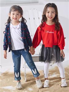 嗒嘀嗒春装新款红色时尚卫衣