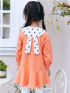 嗒嘀嗒新款橙色连衣裙