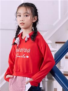 嗒嘀嗒春装新款红色卫衣