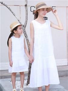 賓果童話新款純色親子裝
