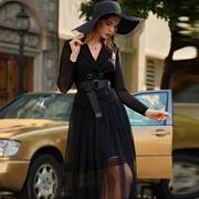 例格新款黑色連衣裙 穿出你的優雅氣質