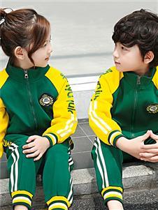大小孩绿色夹克