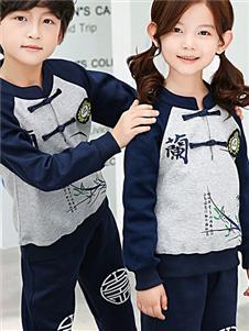 大小孩中国风套装
