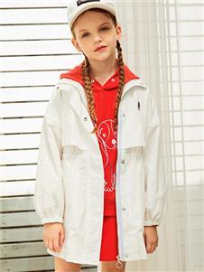 暇步士新款白色时尚外套