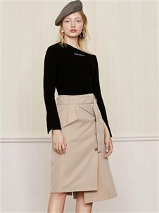 雀啡新款时尚气质半身裙