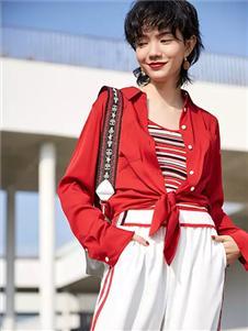雀啡女装春夏新款红色外套