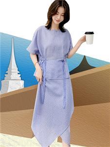 雀啡新款时尚气质修身连衣裙
