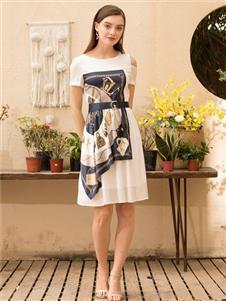 MEISOUL时尚印花连衣裙