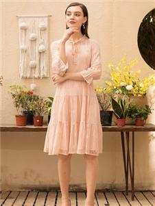 MEISOUL粉色連衣裙
