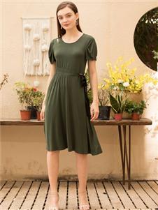MEISOUL绿色连衣裙