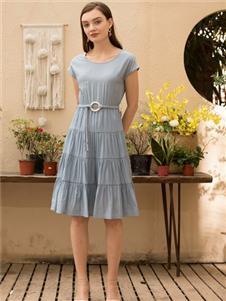 MEISOUL蓝色连衣裙