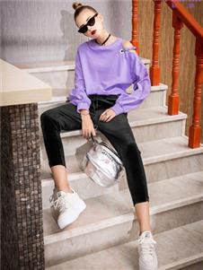 飞范女装紫色卫衣