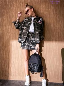 飞范女装个性迷彩外套