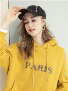 艾奴伊黄色羽绒衣