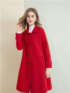艾奴伊红色大衣