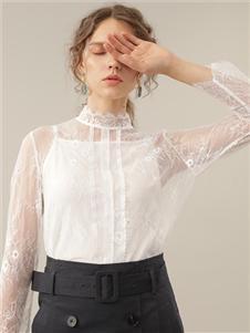 塵輾2020新款白色紗質上衣