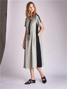 南耳灰色连衣裙