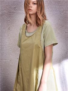 南耳綠色連衣裙