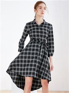 G2000格子连衣裙