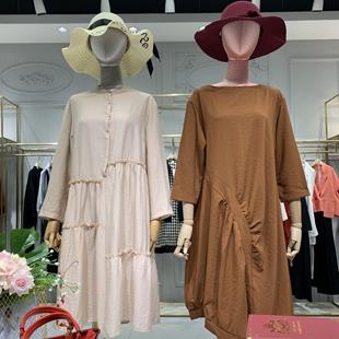 【朴庄】广州原创设计棉麻品牌折扣女装尾货批发走份