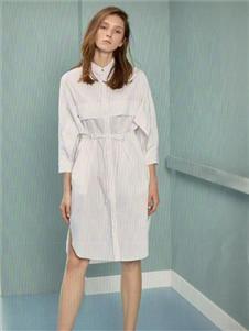 衣魅人2020白色衬衫裙