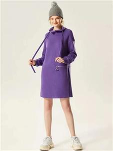 衣魅人2020紫色长款卫衣