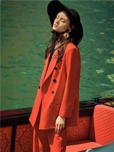 衣魅人2020红色西服