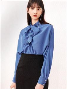 衣魅人2020蓝色衬衫