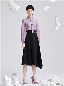 佧茜文2020紫色襯衫