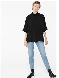 Monki黑色衬衫短袖