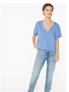 Monki蓝色短袖