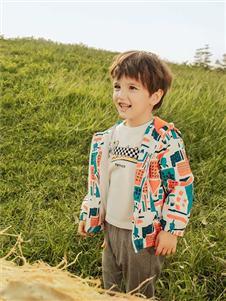 青蛙王子男童印花外套