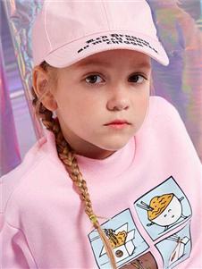青蛙王子女童粉色卫衣