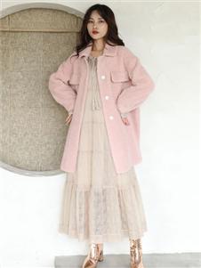 芭依璐粉色外套