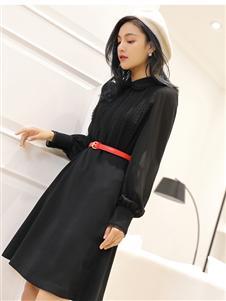 傲丝度黑色连衣裙