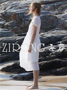 子容 ZIRONG白色裙子