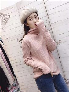 诺艾琪粉色针织衫